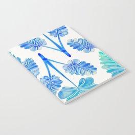 Tropical Palm Leaf Trifecta – Blue Ombré Palette Notebook