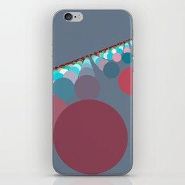 Floating Discs on Grey (B) iPhone Skin