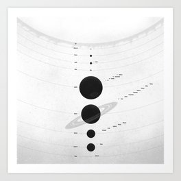 The Worlds (White) Art Print