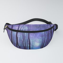 Fantasy Forest Path Icy Violet Blue Fanny Pack