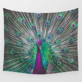 Psychedelic Peacock Wall Tapestry