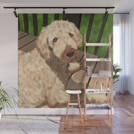 Riley the Golden Doodle Wall Mural