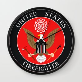 Firefighter Symbol Wall Clock