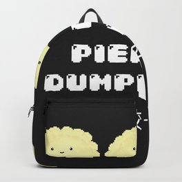 Pierogi. Dumplings. 餃子. Backpack