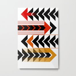 Colourful Arrows Graphic Art Design Metal Print