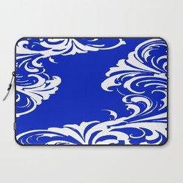 Damask Blue and White Laptop Sleeve