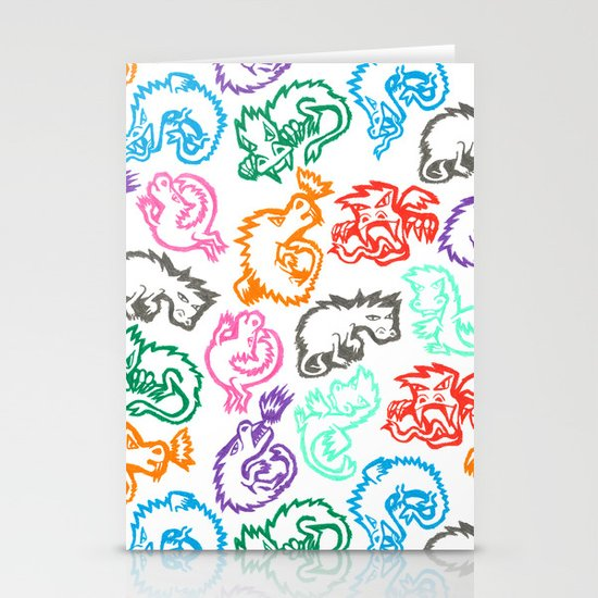 Crayon Love: Dragons Stationery Cards