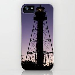 Sanibel Island Lighthouse Sunset iPhone Case