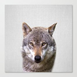 Wolf - Colorful Canvas Print