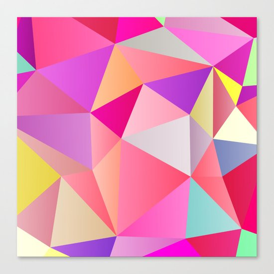 Pink Polygons Canvas Print
