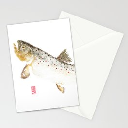 Brown Trout - Gyotaku Stationery Cards