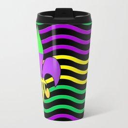 Curvilinear Fleur de lis Flag Travel Mug