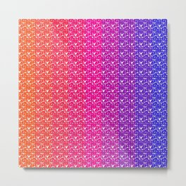 Imperfect Hearts Spectrum Pattern - White/Spectrum2 Metal Print