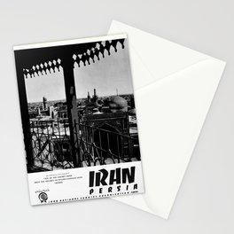 retro noir et blanc Persia Stationery Cards