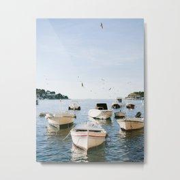 Boats of Hvar | Croatia ocean sea fine art photography print | Wanderlust travel poster Metal Print