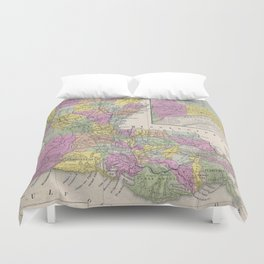 Vintage Map of Louisiana (1853) Duvet Cover