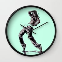 hiphop Wall Clocks featuring B GIRL by ARTito