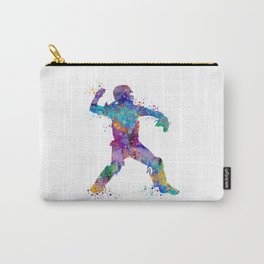 Baseball Player Softball Catcher Colorful Art Watercolor Sports Gift Carry-All Pouch
