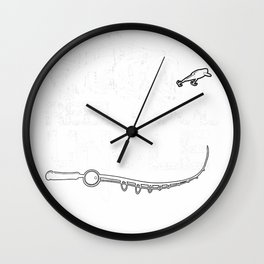 Reel Cool Uncle Fishing Daddy Fathers Day Dad Gifts For Men T-Shirt Wall Clock