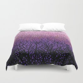 Plum Blossom Tree Grove Duvet Cover