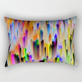 Colorful digital art splashing G393 Rectangular Pillow