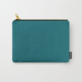 Solid dark turquoise bluish Carry-All Pouch