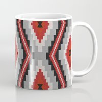 navajo Mugs featuring Navajo red by spinL