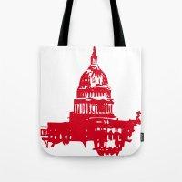 washington dc Tote Bags featuring Washington DC  by ialbert