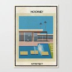 Hockney+neutra Canvas Print