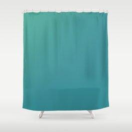 Teal Blends Design Shower Curtain