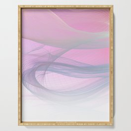 Flow Motion Vibes 1. Pink, Violet and Grey Serving Tray