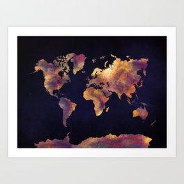 world map 64 Art Print