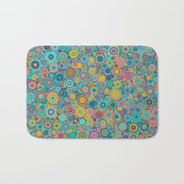 Psychedelic funky Seventies disco party Bath Mat