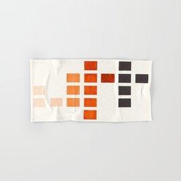 Colorful, Burnt Sienna, Mid Century, Modern, Minimalist, Square, Geometric, Pattern Hand & Bath Towel