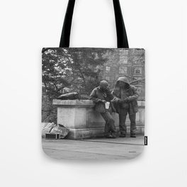Casual Encounters Tote Bag