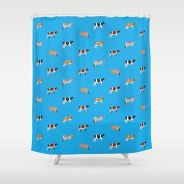 Dairy Breeds // Sky Blue Shower Curtain