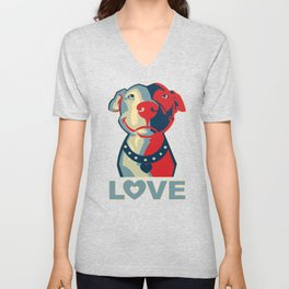 Pitbull - Love Unisex V-Neck