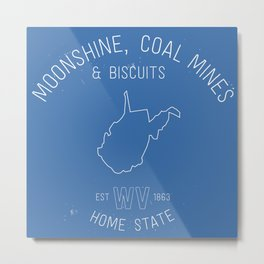 3 Things about West Virginia Metal Print