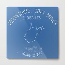 3 Things about West Virginia Metal Print