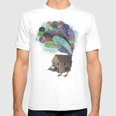 birdhouse revisited MEDIUM Mens Fitted Tee White