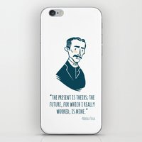 tesla iPhone & iPod Skins featuring Nikola Tesla by Chris Baldie