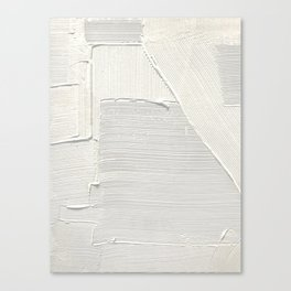 Relief [2]: an abstract, textured piece in white by Alyssa Hamilton Art Canvas Print