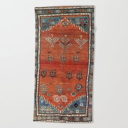 Bakhshaish Azerbaijan Northwest Persian Carpet Print Beach Towel