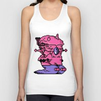 video game Tank Tops featuring Double Slug - Video Game Project by Studio Momo╰༼ ಠ益ಠ ༽