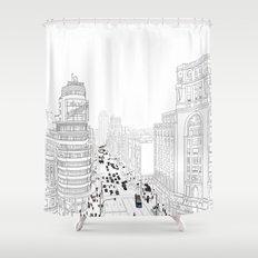 Gran Vía, Madrid Shower Curtain