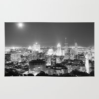 metropolis Area & Throw Rugs featuring Metropolis by Kristofferson Brice