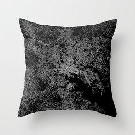 Baltimore map Maryland Throw Pillow