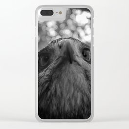 Black-Chested buzzard eagle portrait Clear iPhone Case