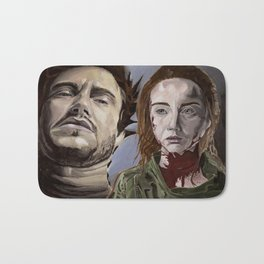 Abigail and Will 2., acrylic painting Bath Mat