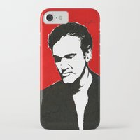 quentin tarantino iPhone & iPod Cases featuring Quentin Tarantino in Color by Carolyn Campbell